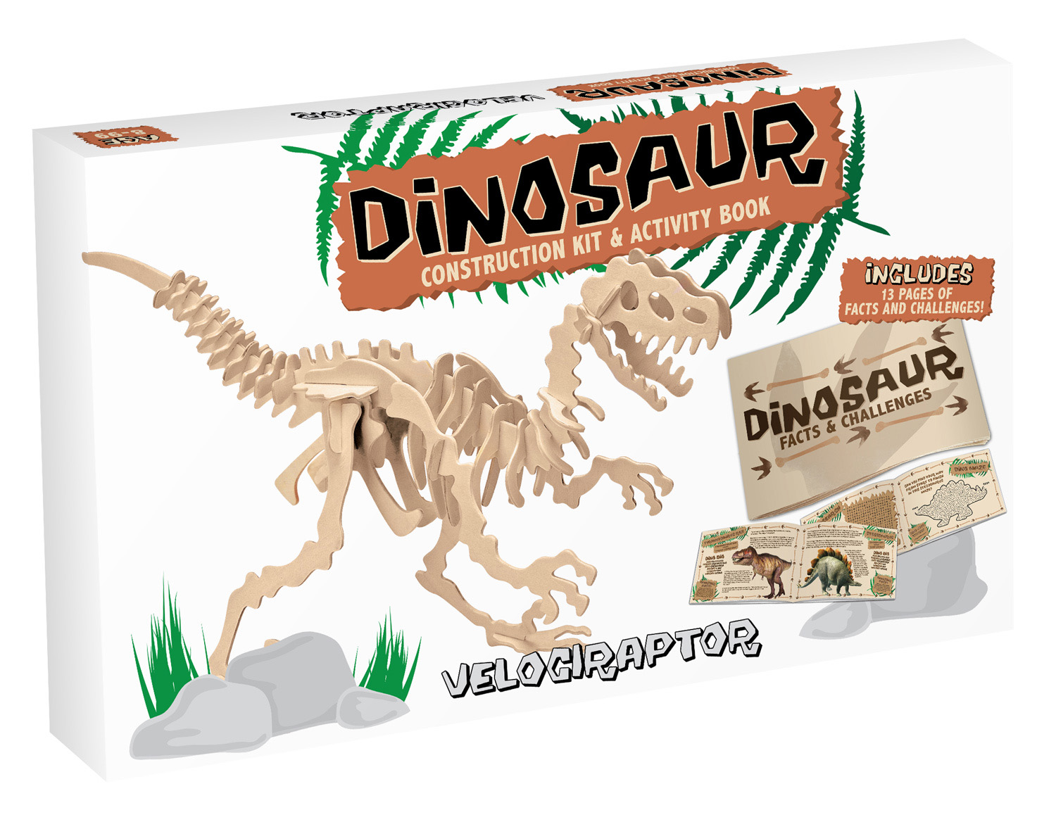 Dinosaur Construction Kit & Activity Book - Velociraptor