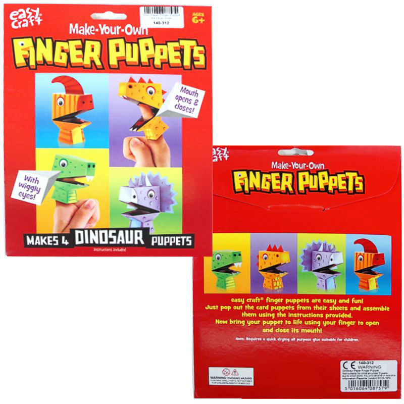 Make Your Own Dinosaur Finger Puppets