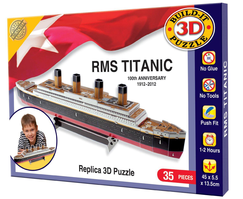 Build Your Own 3d Puzzle Model Kit - Rms Titanic (35 Pieces) - 02323