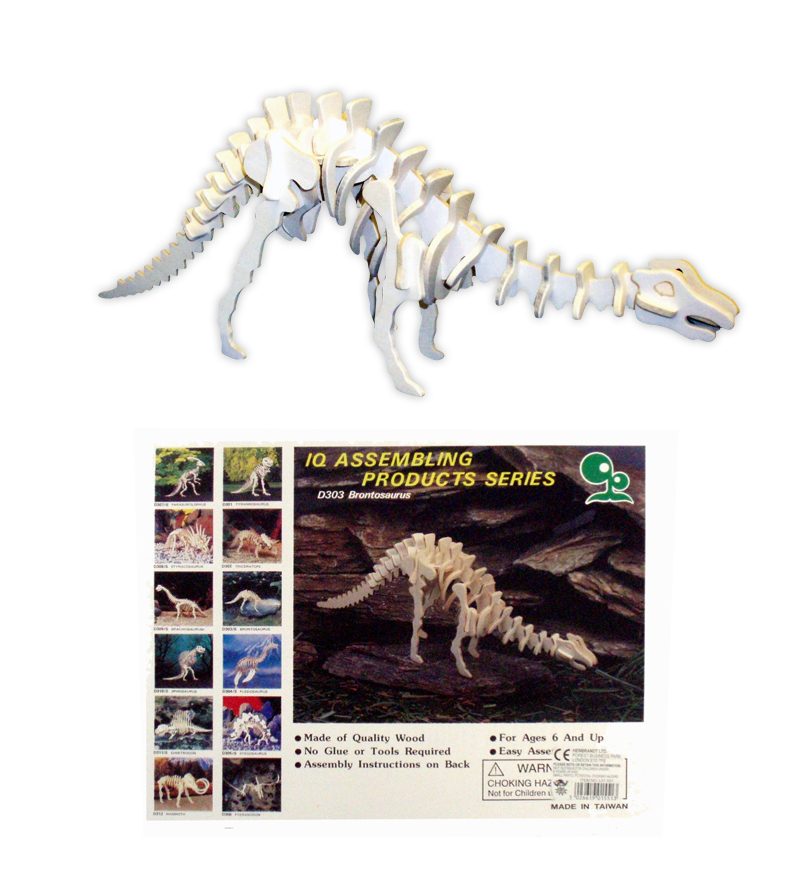 Wooden Dinosaur Skeleton Assembly Kit